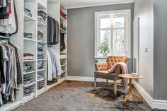 Förvaring – 10 walk in closets att inspireras av – Sköna hem