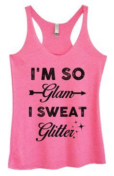 Womens Tri-Blend Tank Top - I'm So Glam I Sweat Glitter