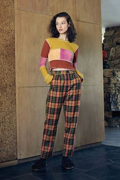 ZGY DENIM Check It Pleated Trouser Pant | Urban Outfitters