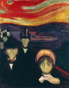 Edvard Munch Kaygı / Anxiety 1894. Tuval üzerine yağlıboya. 94 x 74 cm. The Munch Museum, Oslo.
