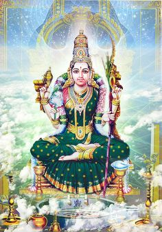 Raja Rajeswari the Universal Mother by Valleysequence Shiva Parvati Images, Durga Images, Lakshmi Images, Shiva Shakti, Krishna Images, Ganesha Painting, Tanjore Painting, Mother Goddess, Goddess Lakshmi