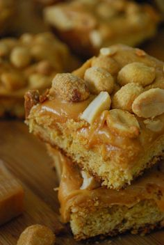 Payday Blondie Bites - This website is dangerous! Dessert Cake Recipes, Dessert Bars, Fun Desserts, Delicious Desserts, Cake Bars, Yummy Treats, Sweet Treats, My Favorite Food, Favorite Recipes