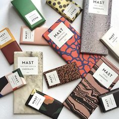 @DineLa's 28g and 70g display of our signature Mast Collection, Sea Salt and mini herb bars