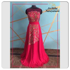"""DIFFERENT IS BEAUTIFUL""    Description: Pure Reddish pink crepe silk gown with heavy creeper work done  with intricate handwork zardosi, beads, sequence , mirrors and threadwork    #archithanarayanamofficial #bridal #couture #banjarahills #hyderabad #designerwear #pure #crepesilk #intricate #handwork #zardosi #sequence #beads #threadwork #mirrors #scallopededges #mehendi #sangeeth #elegant #gown #flawless #beautiful    For pricing and order inbox us or contact us on +91 9866011444"