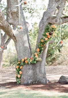 Flowers by Penny and Lulu! Orange Inspiration: Oregon Wedding at Grizzly Peak Winery - MODwedding