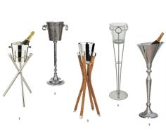 CHAMPAGNE | Charleyworks.com champagne buckets with stands