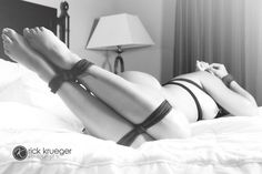 """cordaymia: """"all tied up and no one to play with me. """" It doesn't get any sexier"""
