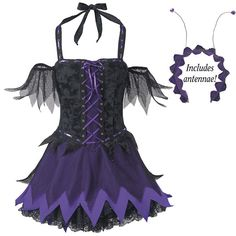 Cute goth faerie dress