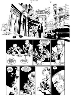 Eduardo Risso, page from 100 Bullets..