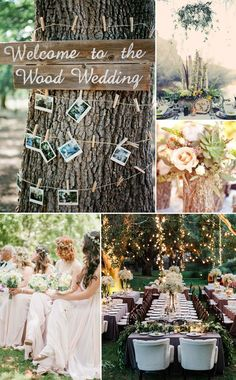 rustic wedding ideas - woodland forest wedding ideas and themes for wedding trends 2015