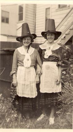 Hester and Davona in their Welsh Costumes.  My mother and grandma