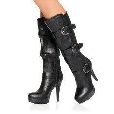 3-buckle lug sole boots :)