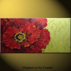 Poppy acrylic abstract painting contemporary modern by artpower, $295.00