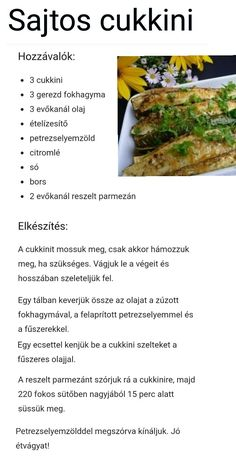 Egészséges ételek Healthy Dinner Recipes, Diet Recipes, Vegetarian Recipes, No Carb Snacks, Fitt, Clean Eating, Healthy Eating, Hungarian Recipes, Veggie Dishes