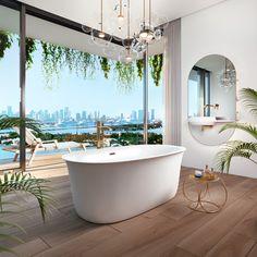 Bainultra Vibe Design 6033 freestanding air jet bathtub for your modern bathroom Steam Showers Bathroom, Bathroom Spa, White Bathroom, Modern Bathroom, Bathroom Goals, Minimalist Bathroom, Master Bathroom, Luxury Home Decor, Luxury Homes