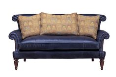 79w front view (looks better from side - kind of odd from front with the two levels of rolled arm/back) - Wesley Hall Furniture - Hickory, NC - PRODUCT PAGE - L8060-79 SETTEE