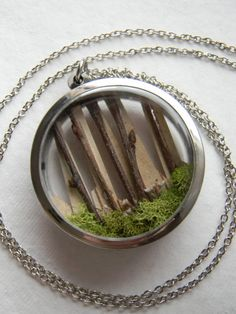 Diorama Locket Necklace