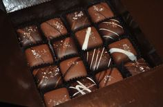 V Chocolate chocolate covered carmels with sea salt, YUM