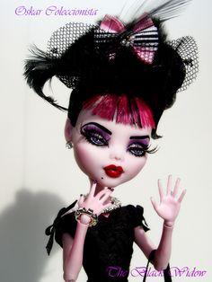Black Widow Draculaura Monster High Ooak | by OskArt Dolls