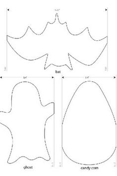 bat and ghost template halloween - Halloween Decoration Templates