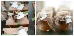 favors with pinecones and leaf tags. proof that the two CAN be mixed together in my theme Rustic Wedding Favors, Wedding Favor Tags, Chic Wedding, Floral Wedding, Fall Wedding, Wedding Decorations, October Wedding, Dream Wedding, Wedding Ideas