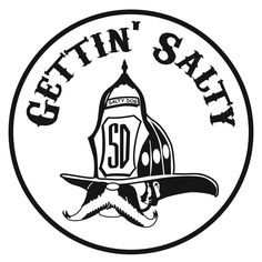 Classic Gettin Salty Combo Firefighter Car Decal and Helmet Stickers