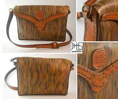 Handmade leather patterned bag by barlogg