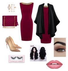 """""""clasic"""" by cherazzi-f-m on Polyvore featuring moda, Aloura London, Yves Saint Laurent, Chanel, Christian Louboutin, Anne Klein, Forever 21 e Boohoo"""