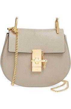 55d6ca38c1bc Chloé  Mini Drew  Leather Shoulder Bag available at