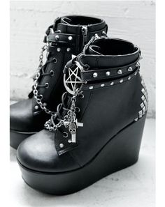 The Craft Studded Wedge Boot