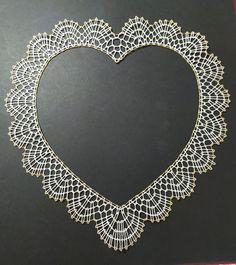 Bobbin Lacemaking, Bobbin Lace Patterns, Lace Heart, Lace Jewelry, Lace Making, Lace Detail, Tatting, Hearts, Diamond