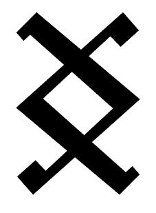 "Inguz Viking Rune- Means ""Where there is a will, there is a way"" The Rebellion's sign, usually tattooed on the sole of the foot or shoulder."