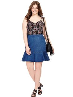 Flippy Denim Skirt