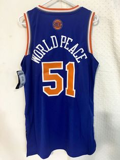 022c02da4 Adidas Swingman  NBA Jersey Knicks Metta World Peace Blue Sz M from  9.99