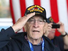 The WWII veterans who come to the World War II Memorial in Washington D.C. through the Honor Flight program are truly inspiring.