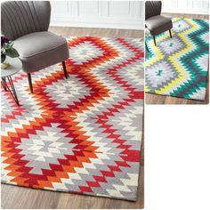 Shop for nuLOOM Handmade Southwestern Ikat Wool Rug (8'6 x 11'6). Get free…