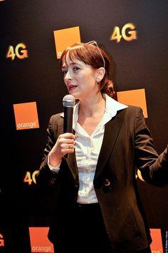 Delphine Ernotte Cunci, directrice exécutive, Orange France , lancement 3 avril 2013 4G Paris et 15 villes, découvrez le site quialameilleure4G.com
