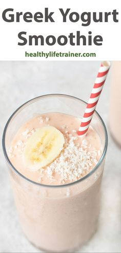 There is a thin line between quick, easy and fail-proof when it comes to Greek yogurt smoothie. It is a healthy smoothie, so easy to prepare and doesn't take that much time to serve; consequently, it is less prone to failure since the step-by-step process isn't complicated to follow. #Greekyogurtsmoothie #breakfastsmoothie #healthybreakfast