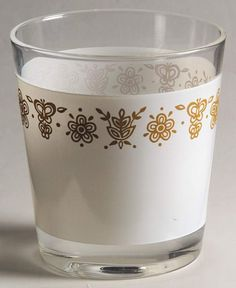 Butterfly Gold (Corelle) Short Glassware Tumbler by Corning Butterfly Gold, Gold Kitchen, Tupperware, Dinnerware, Shot Glass, Vintage Pyrex, Dishes, Crystals, Anthropology