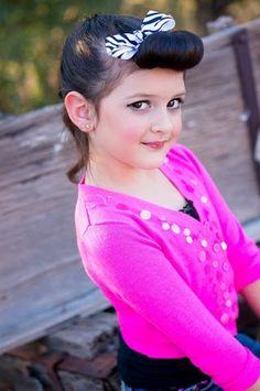 Ayanna Valentina- Pin-up Rockabilly Zebra Bow!! Little Diamond Models LDM