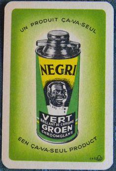 NEGRI SHOE POLISH AD-BELGIUM AFRICAN BLACK AMERICANA VINTAGE SWAP PLAYING CARD in Collectables, Paper & Ephemera, Playing Cards | eBay