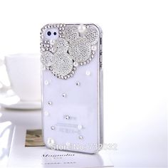 Bling Minnie/Mickey Diamond Phone Cover for Samsung A5 A7 A8 S3 S4 S5 mini S7 S6 Edge Note 2 3 4 5 for iPhone 4 5S 5C 6S 7 Plus