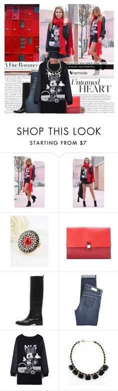 """""""Childish love... www.SHEINSIDE.com"""" by biancasorana ❤ liked on Polyvore featuring Haider Ackermann, Proenza Schouler, Lanvin, AG Adriano Goldschmied and Sheinside"""
