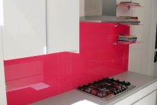 Valentino Kitchens - Vivid Pink Glass Splashback