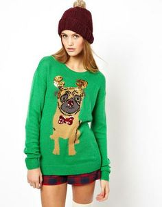 ASOS Holiday Sweater With Pug #Glimpse_by_TheFind