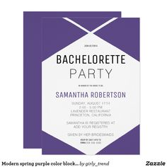 Shop Zazzle's luxurious range of Spring custom wedding invitations. Spring Wedding Invitations, Bachelorette Party Invitations, Custom Wedding Invitations, Bridal Shower Invitations, Be My Bridesmaid Cards, Will You Be My Bridesmaid, Wedding Programs, Invitation Design, Purple