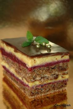 ... LoveAffair Cakes by mirela …: Kapri Torta / Walnut Cake with Wild Fruit & Vanill...