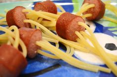 Spaghetti Hot Dogs...a kid's meal!