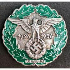 Traditions- und Gau-Abzeichen Ehrenzeichen Berlin 1936 Historical Artifacts, Sexy High Heels, Ww2, Badge, Berlin, Germany, Coat Of Arms, German Language, Merit Badge