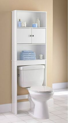 Mainstays Wood Spacesaver White Walmart regarding proportions 2000 X 2000 Wood Bathroom Space Saver Cabinet - Bathroom cabinets allow you to organize the Toilet Storage, Small Bathroom Storage, Bathroom Organisation, Bathroom Design Small, Bathroom Interior Design, Interior Paint, Small Bathrooms, Door Storage, Bathroom Cabinets Over Toilet